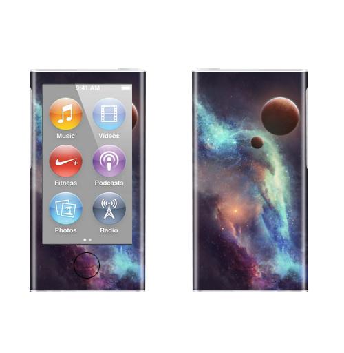 Наклейка на iPod&MP3 Apple iPod nano  7th gen. Красные планеты,  купить в Москве – интернет-магазин Allskins, космос, земля, туманность, звезда, небо, галактика, фантастика, паттерн, искусство, концепт