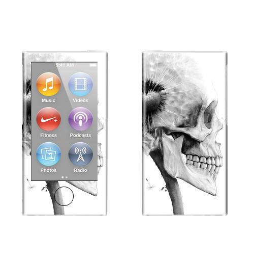 Наклейка на iPod&MP3 Apple iPod nano  7th gen. ОДУВАНЧ,  купить в Москве – интернет-магазин Allskins, розыгрыш, прикол, череп, скелет, цветы, идея, металл, rock
