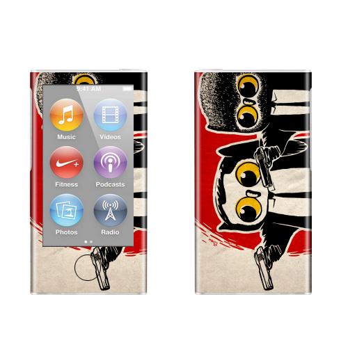 Наклейка на iPod&MP3 Apple iPod nano  7th gen. Надо было взять дробовики.,  купить в Москве – интернет-магазин Allskins, english, надписи, красный, черный, кино, оружие, сова, военные, костюм, мужские