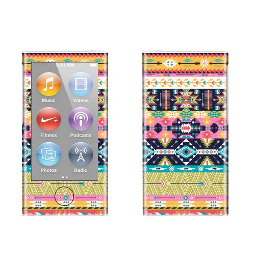 Наклейка на iPod&MP3 Apple iPod nano  7th gen. Декоративный орнамент в американском стили ,  купить в Москве – интернет-магазин Allskins, паттерн, Мексика, текстура, навахо, модный, Перуанская, мода, текстиль
