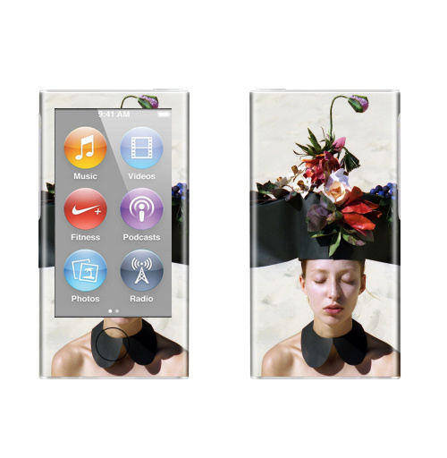 Наклейка на iPod&MP3 Apple iPod nano  7th gen. Цветочница,  купить в Москве – интернет-магазин Allskins, цветы, красота, девушка, отдых, фотография