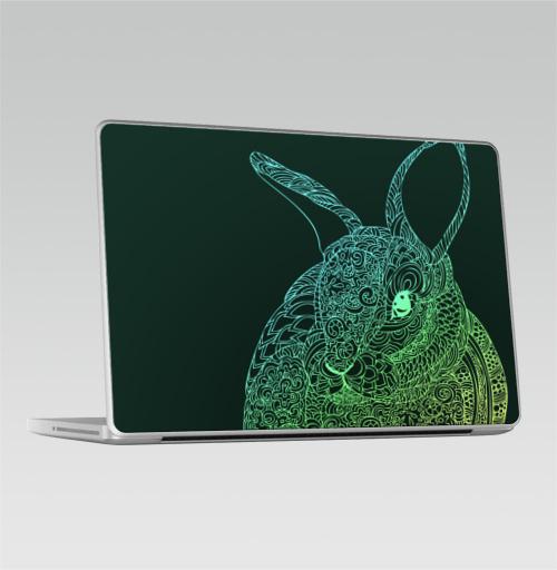 Наклейка на Ноутбук Macbook Pro 2008-2013 – Macbook Pro • Кролик •,  купить в Москве – интернет-магазин Allskins, заяц, животные, зверушки, любовь, графика, цвет, узор, паттерн