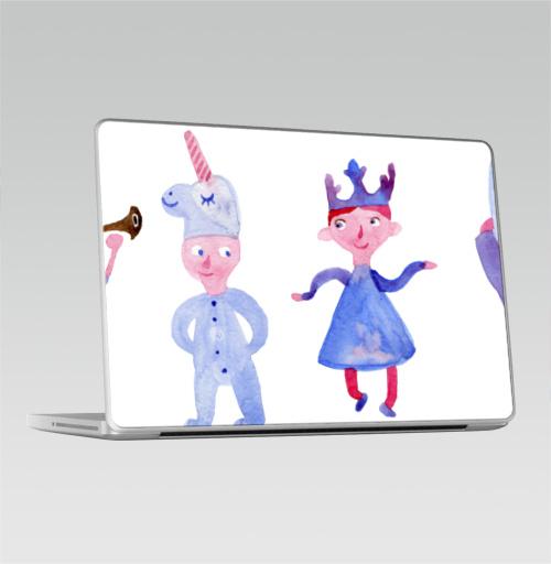 Наклейка на Ноутбук Macbook Pro 2008-2013 – Macbook Pro Детский праздник,  купить в Москве – интернет-магазин Allskins, акварель, детские, пикник, карнавал, танцы, музыка, единорог, заяц, принцесса, принц