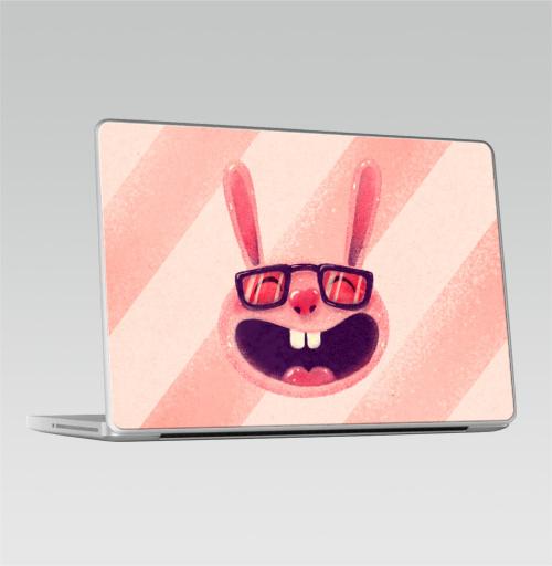 Наклейка на Ноутбук Macbook Pro 2008-2013 – Macbook Pro Влюбленный зая,  купить в Москве – интернет-магазин Allskins, заяц, животные, любовь, улыбка, сердце, хипстер, для влюбленных