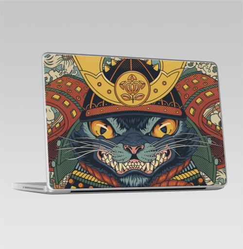 Наклейка на Ноутбук Macbook Pro 2008-2013 – Macbook Pro Самурай,  купить в Москве – интернет-магазин Allskins, космокот, кои, военные, самурай, кошка