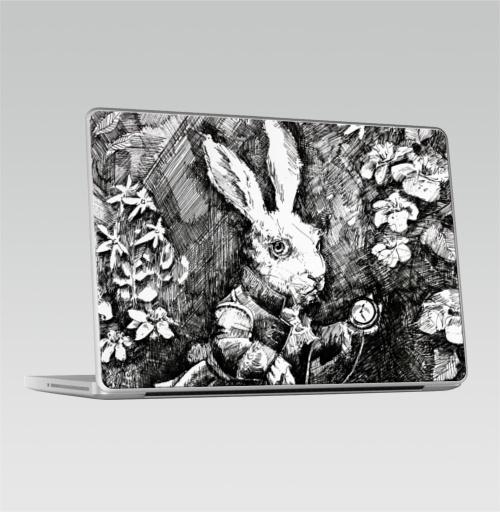 Наклейка на Ноутбук Macbook Pro 2008-2013 – Macbook Pro Заяц из алисы в стране чудес,  купить в Москве – интернет-магазин Allskins, иллюстация, заяц, животные, Подарок, графика