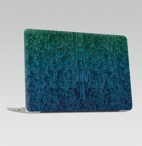 Наклейка на Ноутбук Apple Macbook Pro с Touch Bar Структура ментакулус,  купить в Москве – интернет-магазин Allskins, киберпанк, техно, техника, электроника, паттерн, ментакулус, музыка