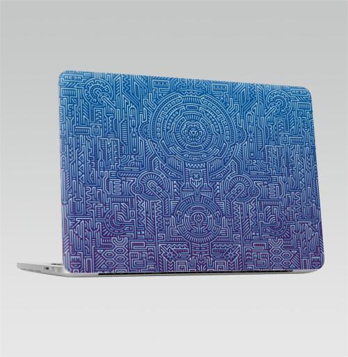 Наклейка на Ноутбук Apple Macbook Pro с Touch Bar Ментакулус,  купить в Москве – интернет-магазин Allskins, микросхема, МАТРИЦА, узор, музыка, техно, техника