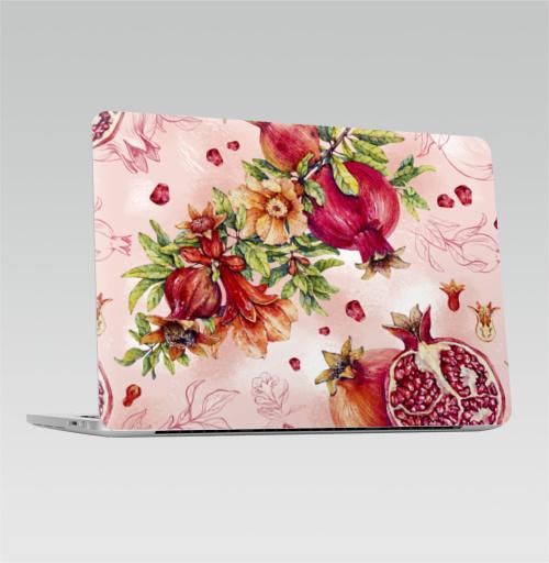 Наклейка на Ноутбук Apple Macbook Pro с Touch Bar Гранат. Ботаническая акварель,  купить в Москве – интернет-магазин Allskins, акварель, акварельные, любимой, красный, красота, романтика, гранаты, гранат, фрукты