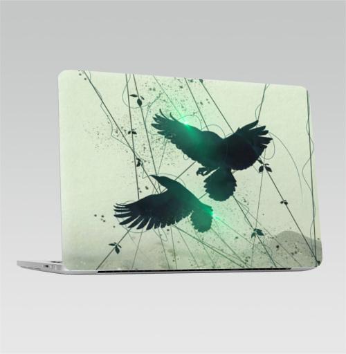 Наклейка на Ноутбук Apple Macbook Pro с Touch Bar Концепт арт абстракция,  купить в Москве – интернет-магазин Allskins, ворона, абстрактные, концепт, цифровая, живопись, блики, движение, мода, брызги