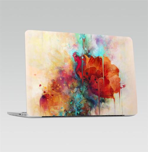 Наклейка на Ноутбук Apple Macbook Pro с Touch Bar Абстракция акварельная,  купить в Москве – интернет-магазин Allskins, мак, акварель, фантазия, цветы, цвет, брызги, клякса, весна, рисунки