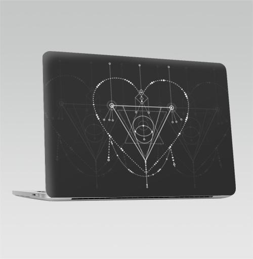 Наклейка на Ноутбук Apple Macbook Pro с Touch Bar Сакральная любовь,  купить в Москве – интернет-магазин Allskins, сакральное, геометрия, космос, геометрический