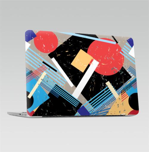 Наклейка на Ноутбук Apple Macbook Pro с Touch Bar Авангард,  купить в Москве – интернет-магазин Allskins, графика, абстрактные, мода, авангард, геометрия, паттерн, ткань