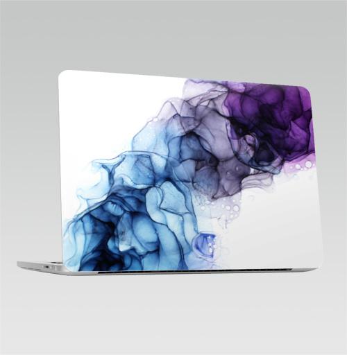 Наклейка на Ноутбук Macbook Pro 2016-2018 – Macbook Pro Touch Bar Фиолет,  купить в Москве – интернет-магазин Allskins, фиолет, дым, фиолетово, фиолетовый, гоолубой, разводы, абстракция, модно