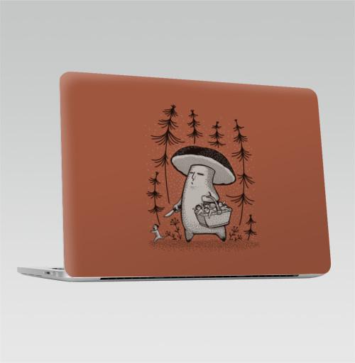 Наклейка на Ноутбук Macbook Pro 2016-2018 – Macbook Pro Touch Bar Грибы пошли,  купить в Москве – интернет-магазин Allskins, грибы, прикол