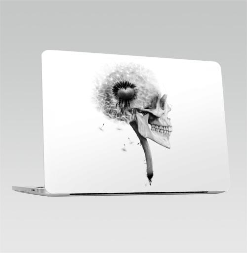 Наклейка на Ноутбук Apple Macbook Pro с Touch Bar ОДУВАНЧ,  купить в Москве – интернет-магазин Allskins, розыгрыш, прикол, череп, скелет, цветы, идея, металл, rock