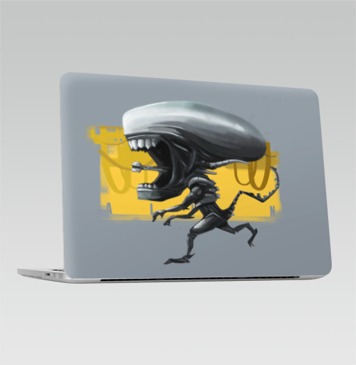 Наклейка на Ноутбук Macbook Pro 2016-2018 – Macbook Pro Touch Bar Ксеноморф,  купить в Москве – интернет-магазин Allskins, кино, чужой, чибик, фанарт, фантастика