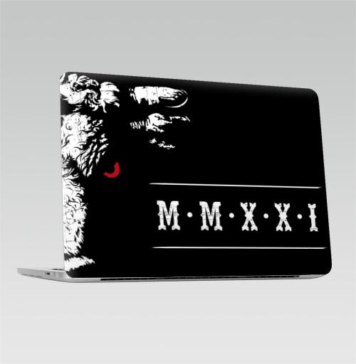 Наклейка на Ноутбук Macbook Pro 2016-2018 – Macbook Pro Touch Bar Буллз Йеар,  купить в Москве – интернет-магазин Allskins, новый год, новогодний принт, год быка, бык