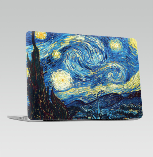 Наклейка на Ноутбук Macbook Pro 2016-2018 – Macbook Pro Touch Bar Звездная ночь - Ван Гог,  купить в Москве – интернет-магазин Allskins, классика, живопись, Ван Гог
