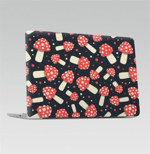 Наклейка на Ноутбук Apple Macbook Pro с Touch Bar Мухоморный стиль,  купить в Москве – интернет-магазин Allskins, грибы, галлюцинации
