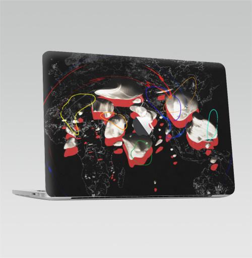 Наклейка на Ноутбук Macbook Pro 2016-2018 – Macbook Pro Touch Bar (с яблоком ) СПЭЙС,  купить в Москве – интернет-магазин Allskins, космос, астероид, абстрация, камни, звезда