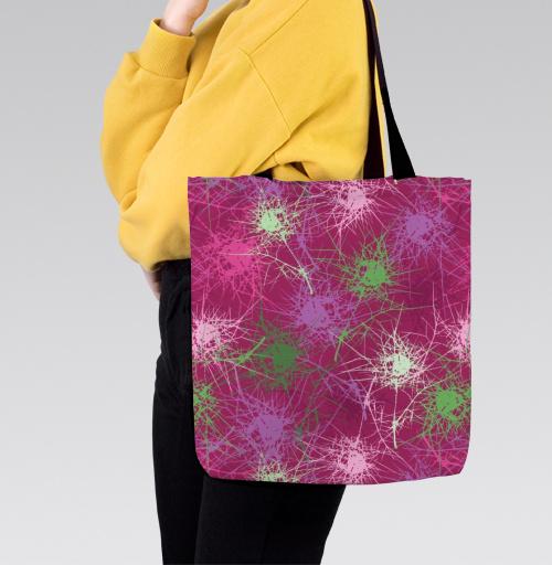 Абстрактные растения, olgart, Красочный дизайн от Ольги, Сумка с полной запечаткой