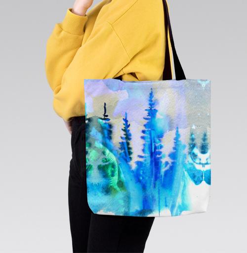Магия северных лесов, Atman, Магазин футболок Atman, Сумка с полной запечаткой