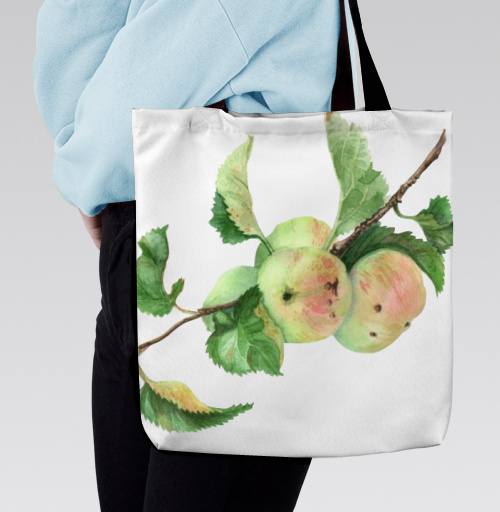 Фотография футболки Ветка с яблоками