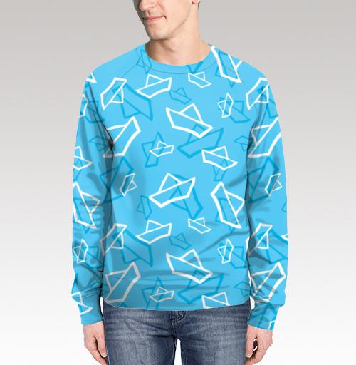Весенние кораблики, Nyhoboika, Магазин футболок Tatyana Komarova Art, Свитшот мужской без капюшона (полная запечатка)