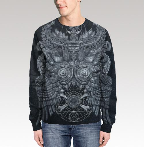 Великая Сова, Gilleas, Магазин футболок Gilleas, Свитшот мужской без капюшона (полная запечатка)