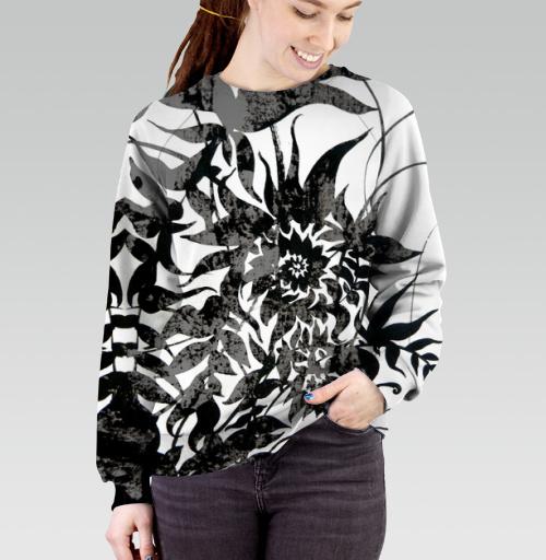 Растительный мотив, Atman, Магазин футболок Atman, Cвитшот женский 3D