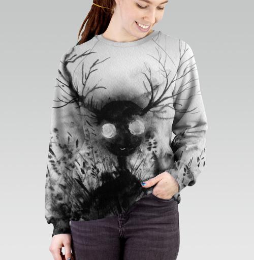 Маленький дух, Atman, Магазин футболок Atman, Cвитшот женский без капюшона (полная запечатка)