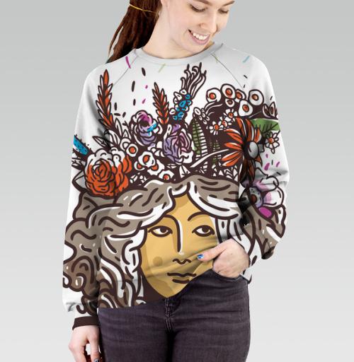Дева Прана, Trudvoblago, Магазин футболок Trudvoblago, Cвитшот женский 3D
