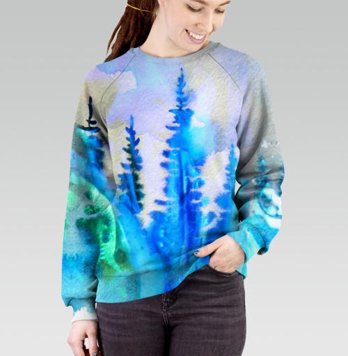 Магия северных лесов, Atman, Магазин футболок Atman, Cвитшот женский 3D