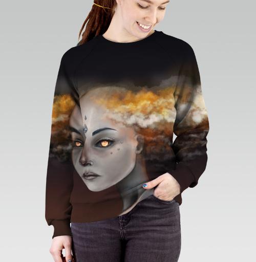 Штормовой элементаль, Sandra2974, Cвитшот женский 3D