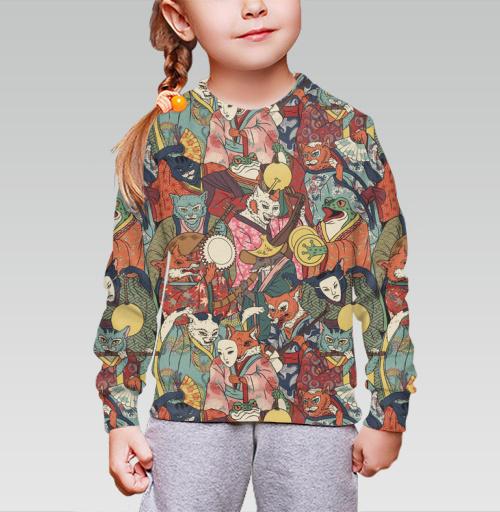 Cвитшот детский для девочки 3D (v2). - Ночной парад