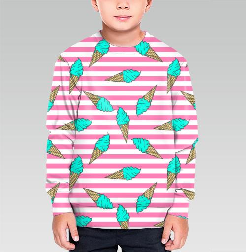 Фотография футболки Пастельный паттерн с мороженым