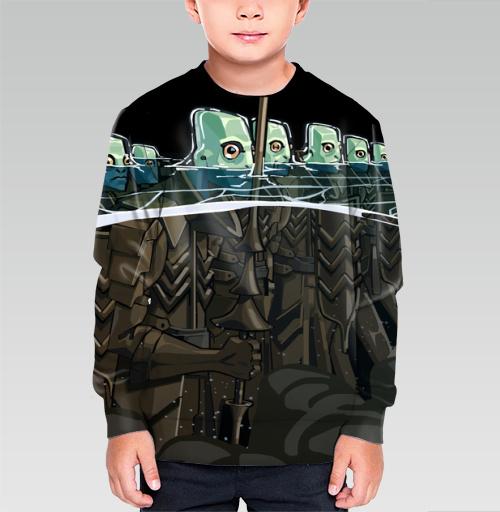 Витязи морские, RomanFoxhide, Магазин футболок RomanFoxhide, Cвитшот детский без капюшона (полная запечатка)