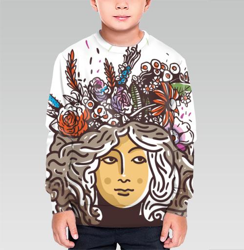 Дева Прана, Trudvoblago, Магазин футболок Trudvoblago, Cвитшот детский без капюшона (полная запечатка)