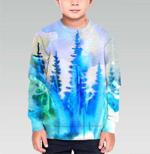Магия северных лесов, Atman, Магазин футболок Atman, Cвитшот детский без капюшона (полная запечатка)