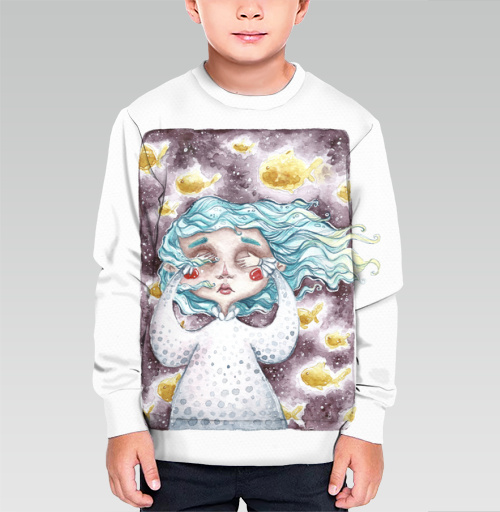 В моем сне плавали золотые рыбы, talloshau, Cвитшот детский без капюшона (полная запечатка)