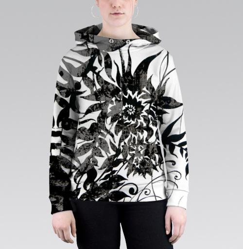 Растительный мотив, Atman, Магазин футболок Atman, Толстовка женская с карманом (полная запечатка)