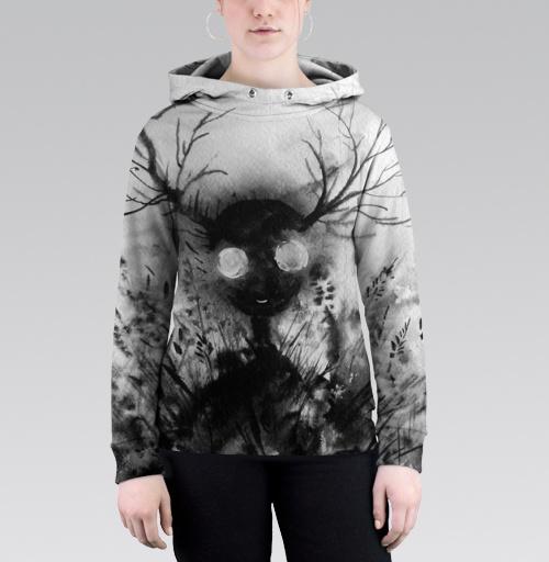 Маленький дух, Atman, Магазин футболок Atman, Толстовка женская с карманом (полная запечатка)