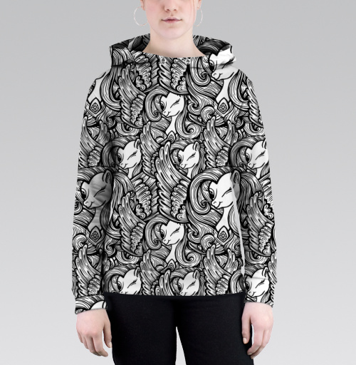 Единороги, MariyaSaakyan, Толстовка женская с карманом 3D