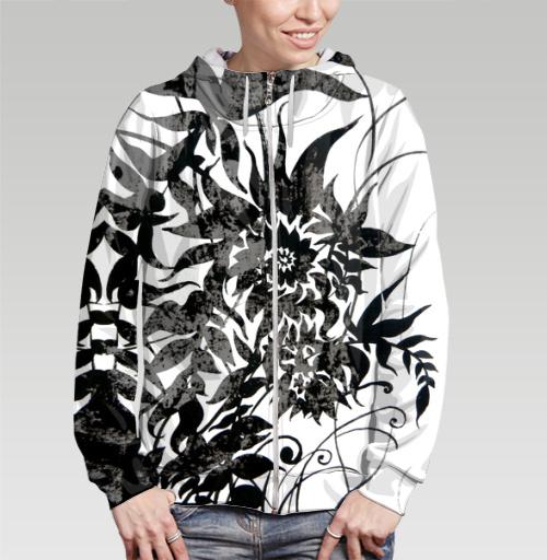 Растительный мотив, Atman, Магазин футболок Atman, Толстовка женская на молнии 3D