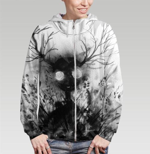 Маленький дух, Atman, Магазин футболок Atman, Толстовка женская на молнии 3D