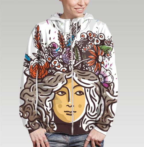 Дева Прана, Trudvoblago, Магазин футболок Trudvoblago, Толстовка женская на молнии 3D