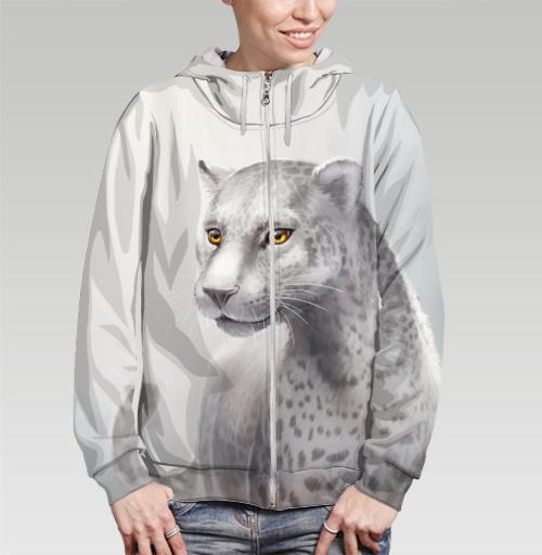 Фотография футболки Серый леопард