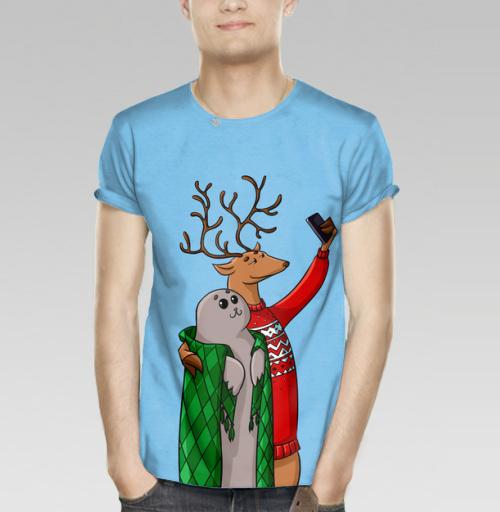 Фотография футболки Тюлень  и олень
