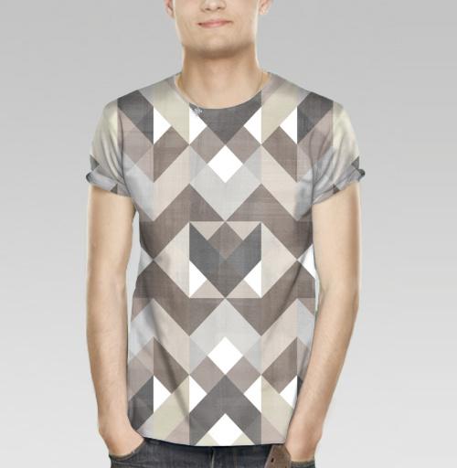 Фотография футболки Симметрия в коричневых тонах
